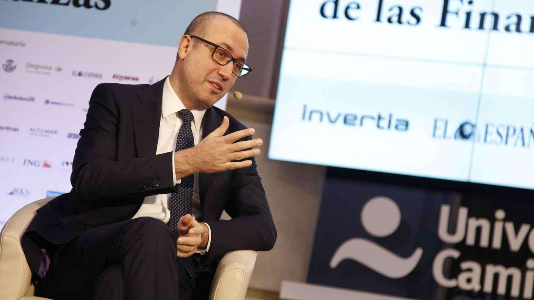 Onur Genç, consejero delegado de BBVA, durante su intervención en el Observatorio de las Finanzas organizado por EL ESPAÑOL.