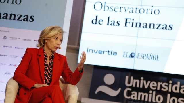 María Dolores Dancausa, CEO de Bankinter, durante el Observatorio de las Finanzas de EL ESPAÑOL e Invertia.