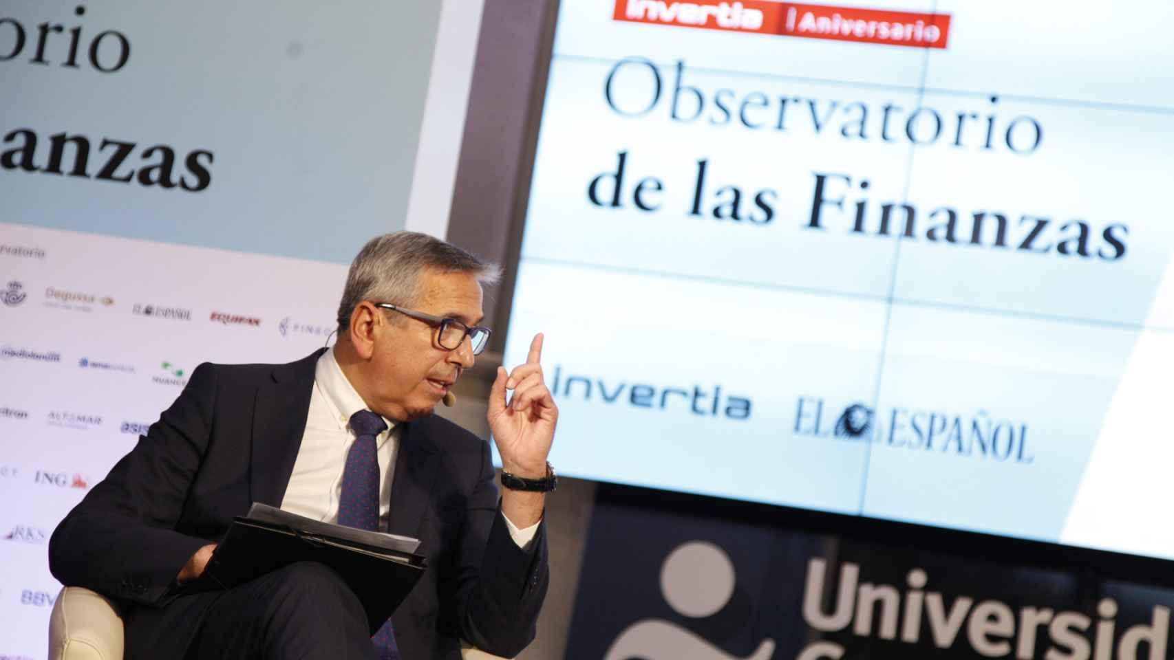 José Carlos García de Quevedo, presidente del ICO,  en el Observatorio de las Finanzas organizado por EL ESPAÑOL.
