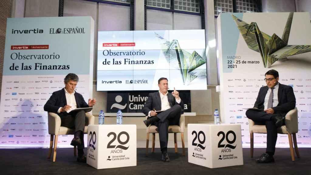 Los responsables de INNOCV Solutions durante el Observatorio de las Finanzas de EL ESPAÑOL e Invertia.