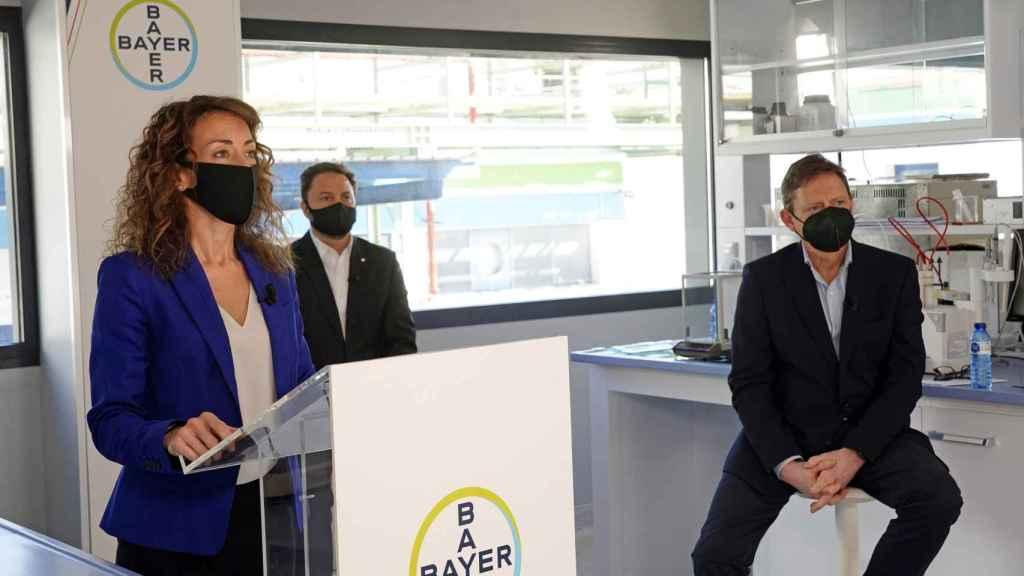 Un momento durante la presentación de resultados de Bayer España.