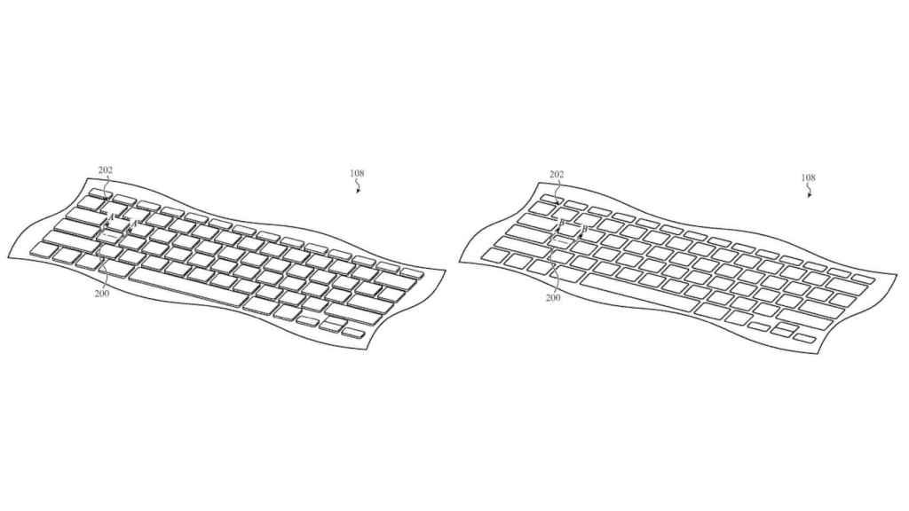 El teclado retráctil de Apple