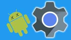 Fotomontaje con los logos de Android y WebView.