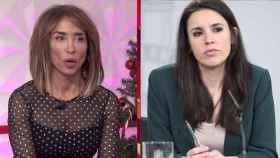 María Patiño e Irene Montero en un fotomontaje.