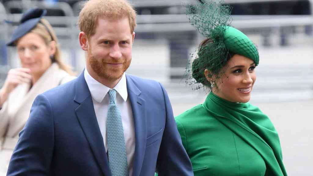 El príncipe Harry junto a su mujer, Meghan Markle, en una imagen de archivo.