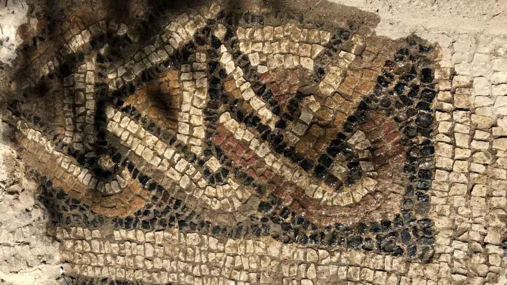Detalle del mosaico encontrado en El Altillo.