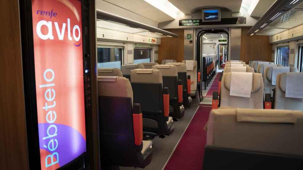 Interior de un tren Avlo de Renfe. Foto de Carmen Suárez.