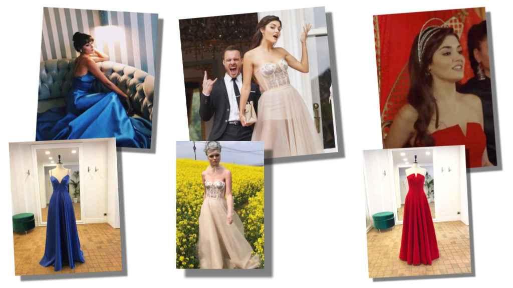 Hande Erçel con algunas de las prendas de Douze Studio.