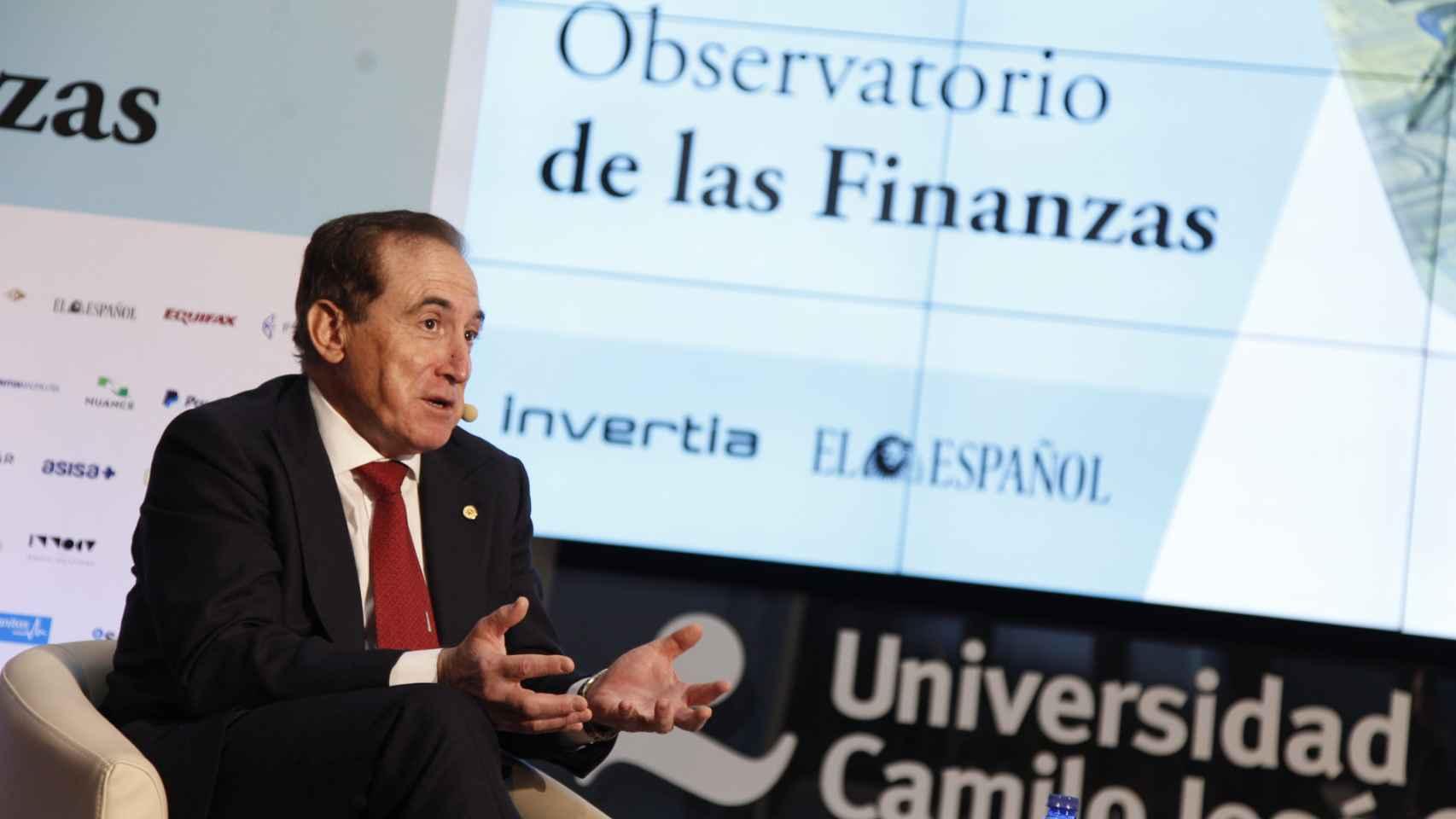 Antonio Huertas, presidente de Mapfre, durante el Observatorio de las Finanzas de EL ESPAÑOL e Invertia.