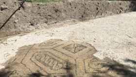 Mosaico hallado en El Altillo.