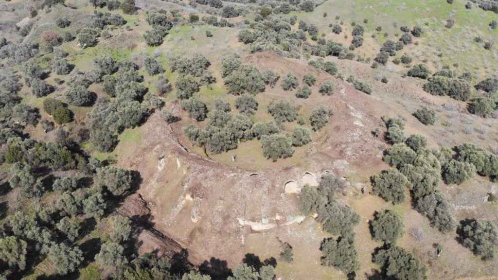 Vista aérea del anfiteatro del siglo III d.C. descubierto en Turquía.