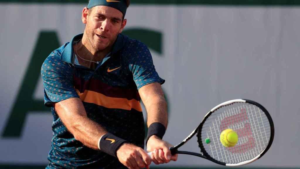 Juan Martin Del Potro, en el torneo de Roland Garros de 2019