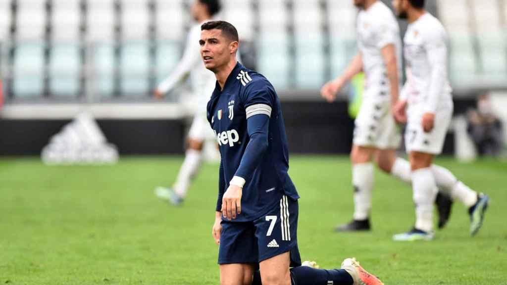 Cristiano Ronaldo, durante un partido con la Juventus