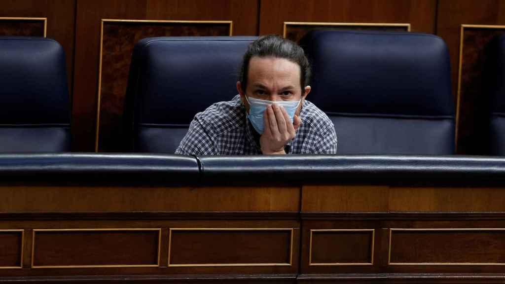 Pablo Iglesias, en su última sesión de control como vicepresidente segundo del Gobierno.