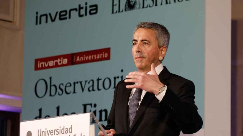 Sergio Álvarez Camiña,  director general de Seguros y Fondos de Pensiones, durante su intervención en el Observatorio de las Finanzas.