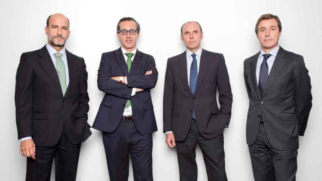 El equipo directivo de la gestora Azvalor.