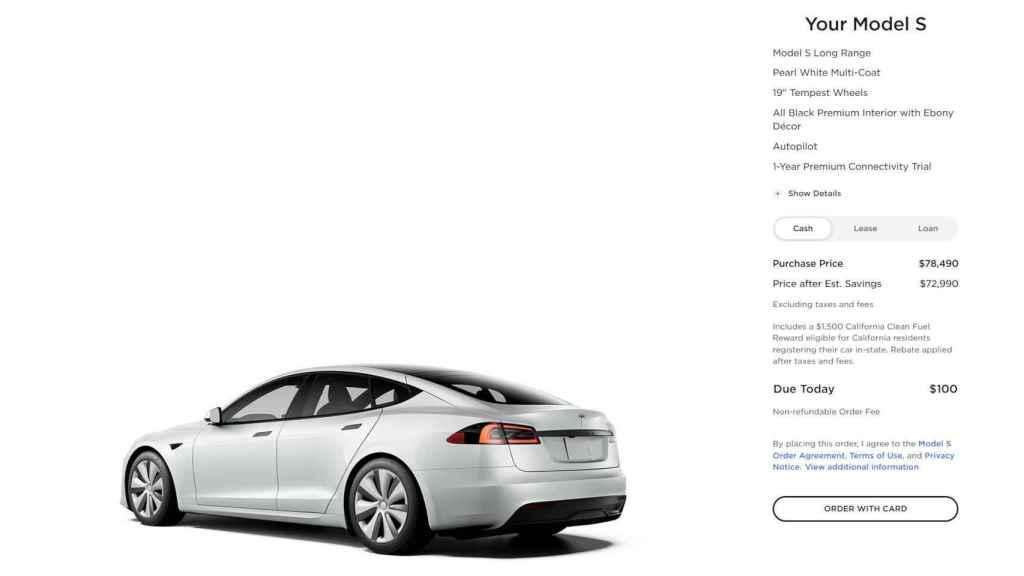 Proceso de compra de un Tesla en EE. UU.