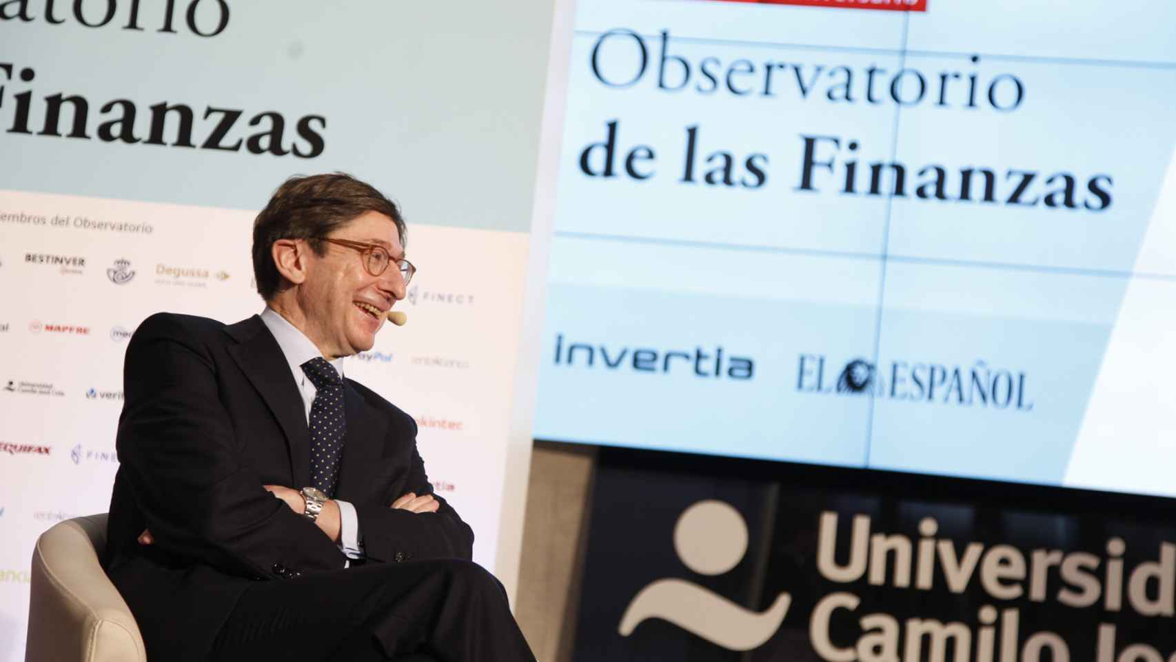 José Ignacio Goirigolzarri, presidente de Bankia, en el Observatorio de las Finanzas de Invertia-EL ESPAÑOL.