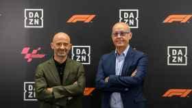 Antonio Lobato y Ernest Riveras, en la presentación de DAZN