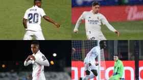 Vinicius Junior, Fede Valverde, Rodrygo Goes y Ferland Mendy, en un collage