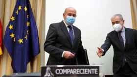 El coronel de la Guardia Civil y exdirector del gabinete de Coordinación y Estudios del Ministerio del Interior, Diego Pérez de los Cobos, este jueves en el Congreso.