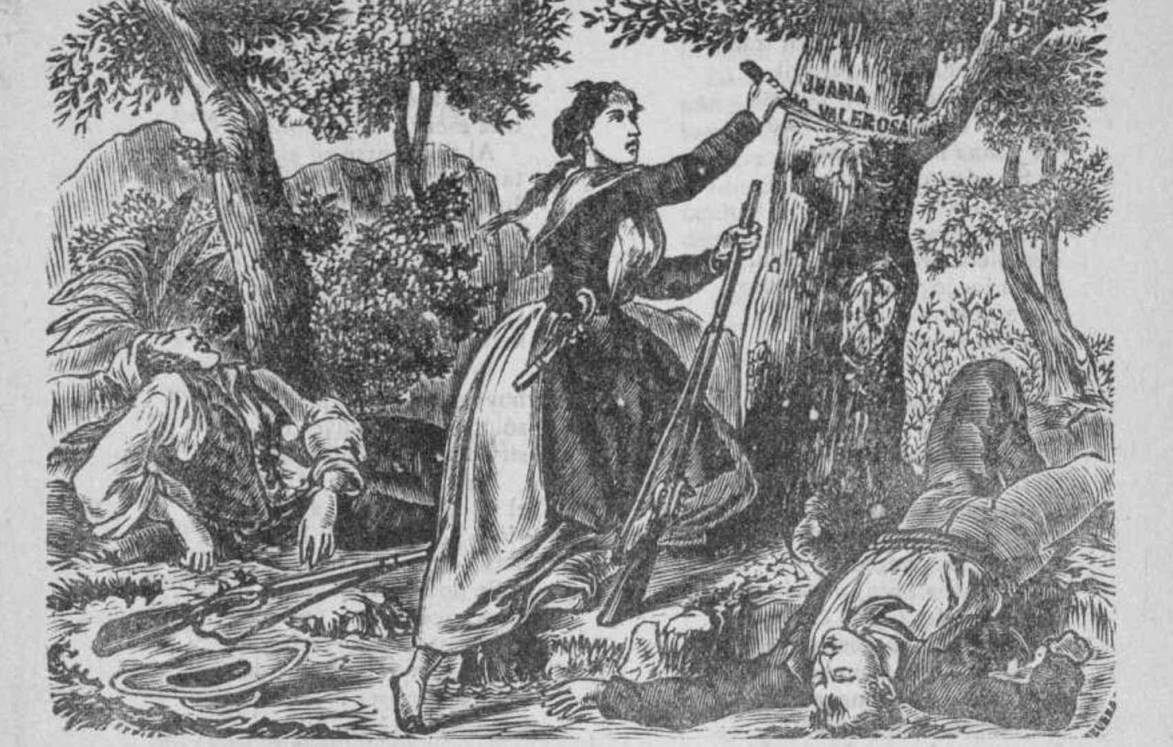 Ilustración de Juana La Valerosa.
