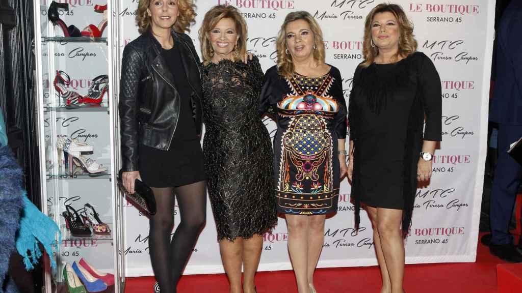 María Teresa Campos, Terelu Campos, Carmen Borrego y Rocío Carrasco.