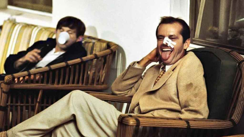 Polanski y Jack Nickolson durante el rodaje de Chinatown.