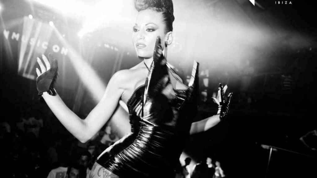 Tania actuando en Ibiza hace unos años.