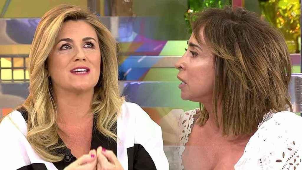 Carlota Corredera y María Patiño han protagonizado un tenso encontronazo en directo.