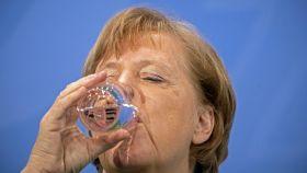 Angela Merkel antes de una rueda de prensa.
