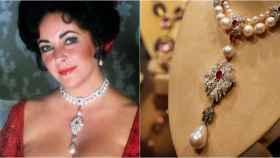 Elizabeth Taylor con la legendaria perla Peregrina.