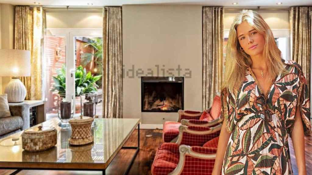 Ana Soria, junto a su casa familiar, en un fotomontaje de JALEOS.