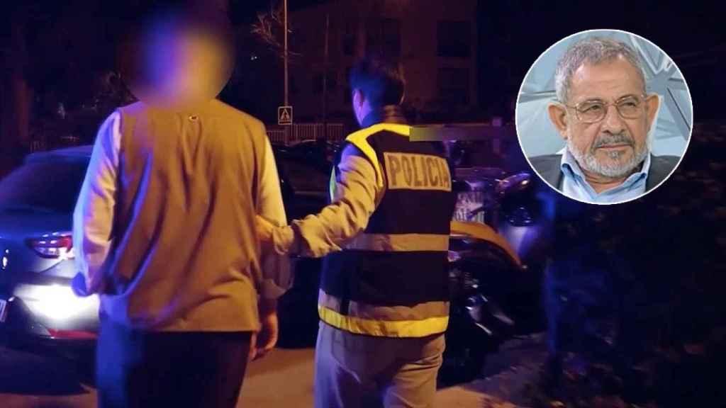 Imagen de la detención del máximo responsable de la Comisión Islámica en España.