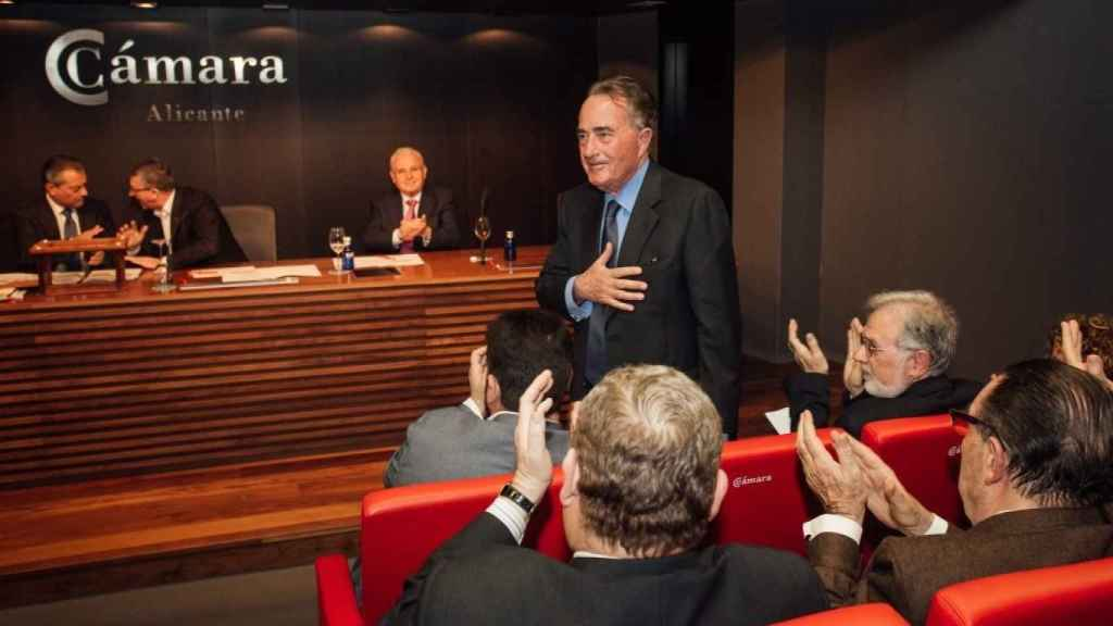 Juan Riera, el presidente de la Cámara de Comercio de Alicante.