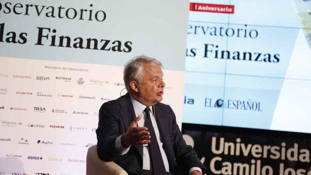 Ignacio Garralda, presidente de Grupo Mutua, durante el Observatorio de las Finanzas de EL ESPAÑOL e Invertia.