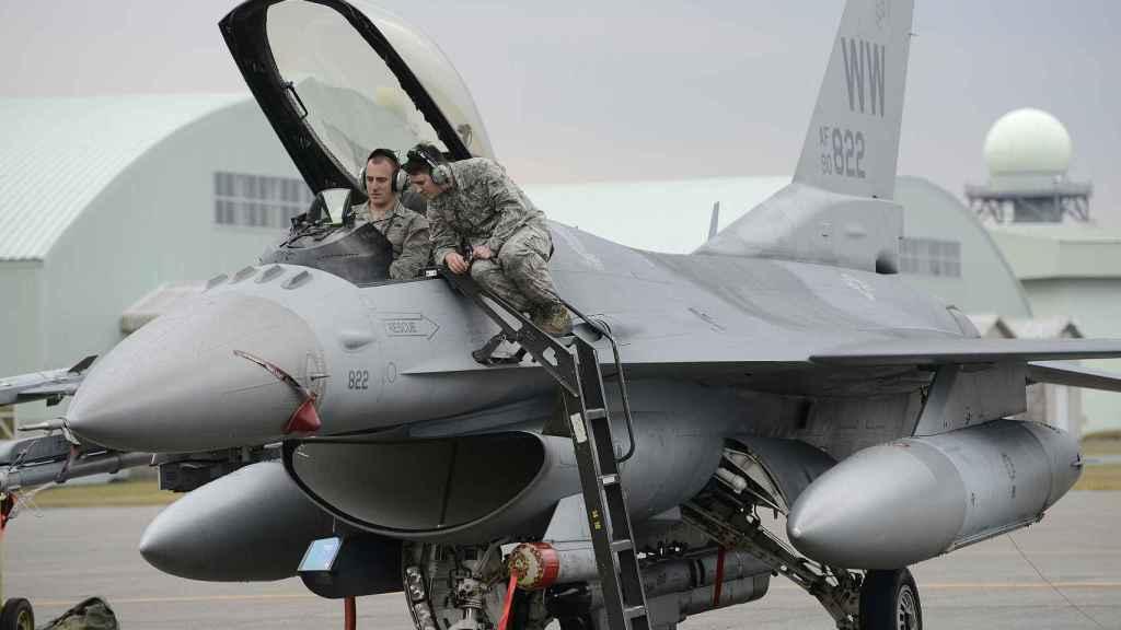 Pilotos de F-16 de Estados Unidos