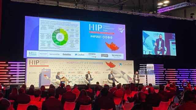 Una de las sesiones plenarias de HIP 2021, celebrado en IFEMA