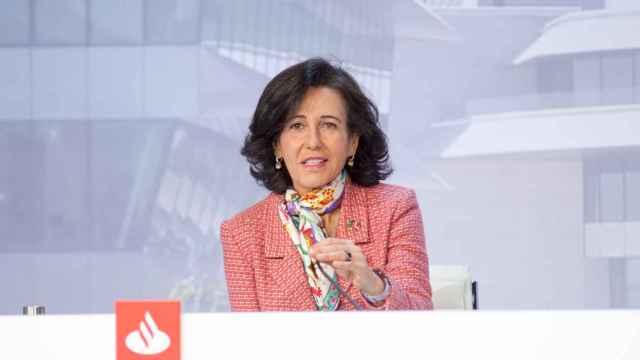 Ana Botín, presidenta de Santander, durante la junta de accionistas del banco.