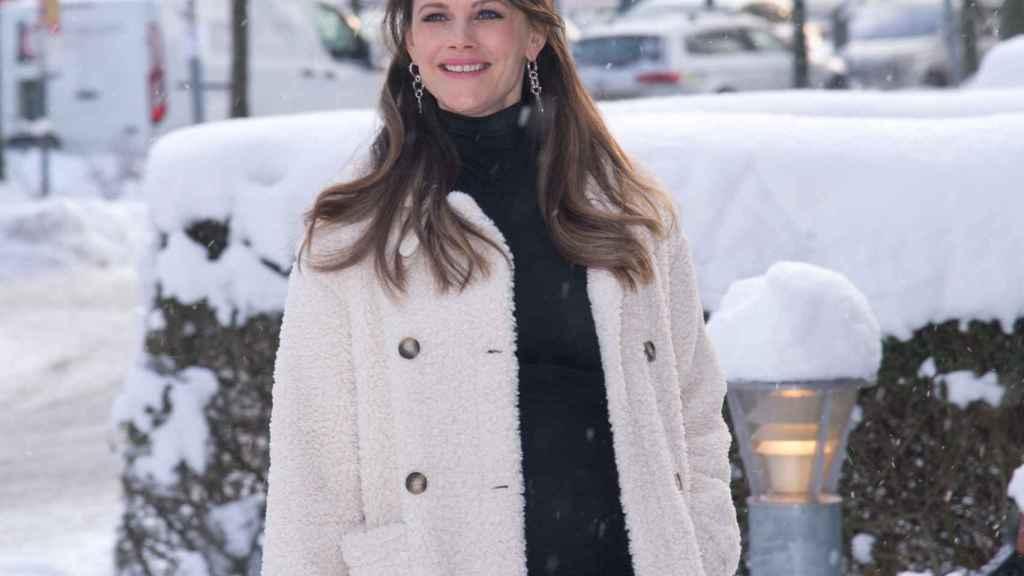 La princesa Sofía de Suecia durante su visita al hospital Sophiahemmet el pasado febrero.