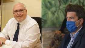 El director general de Administración Local, Toni Such (PSOE) y el presidente de la Diputación, Carlos Mazón (PP).