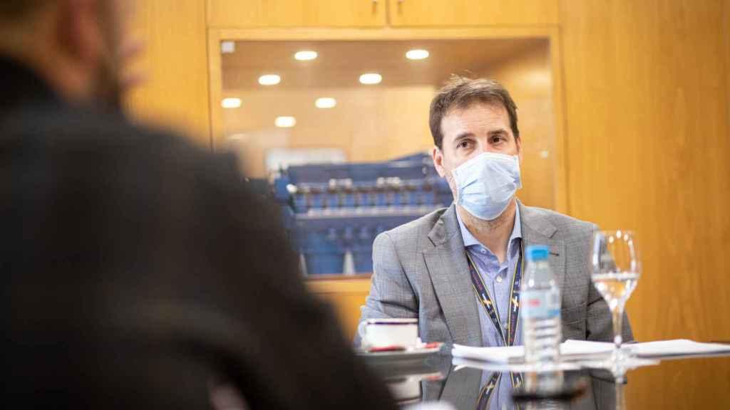 Ignacio Núñez, jefe de la oficina de programas de Navantia en Cartagena (Murcia), el pasado martes.