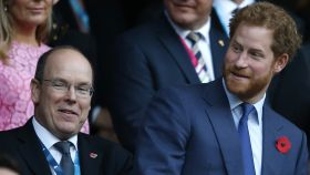 Alberto de Mónaco y el príncipe Harry de Inglaterra.