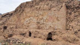 Mural hallado en Perú.