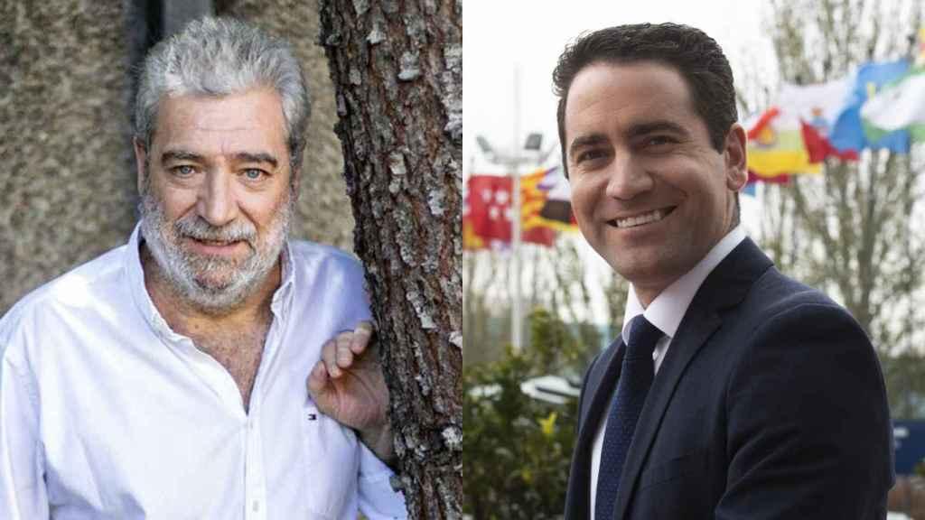 A la izda., Miguel Ángel Rodríguez, y a la derecha Teodoro García Egea.