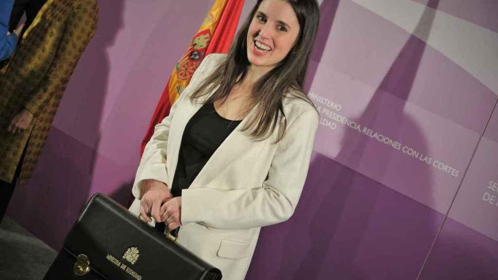 Irene Montero, ministra de Igualdad, el día de su toma de posesión.