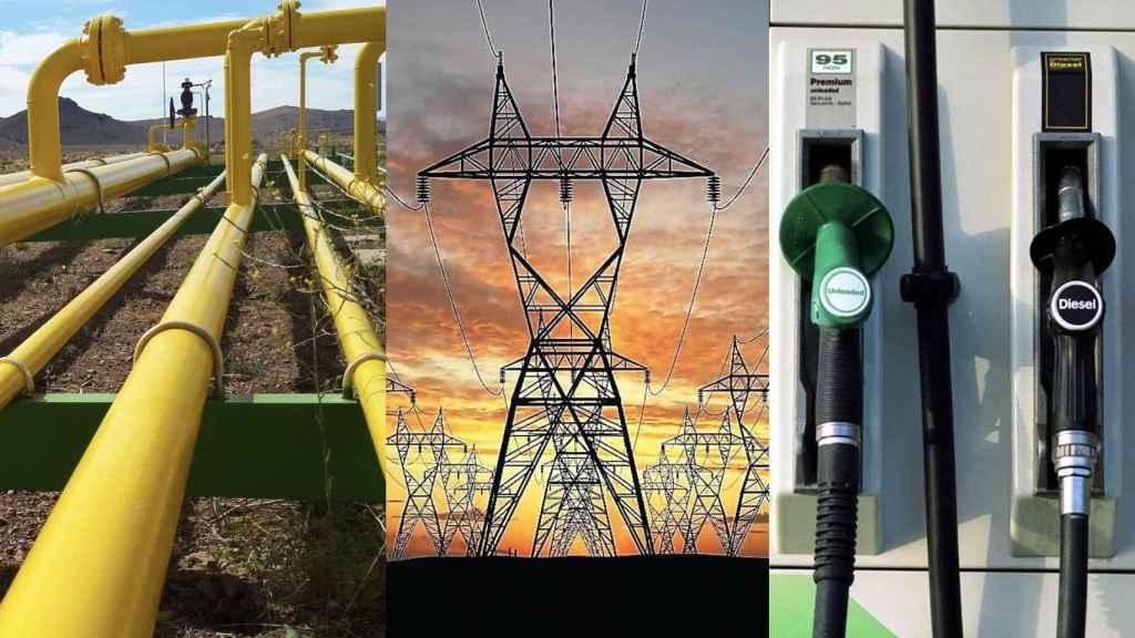 Montaje sobre electricidad y carburantes.