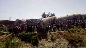 El accidente de tren en egipto.
