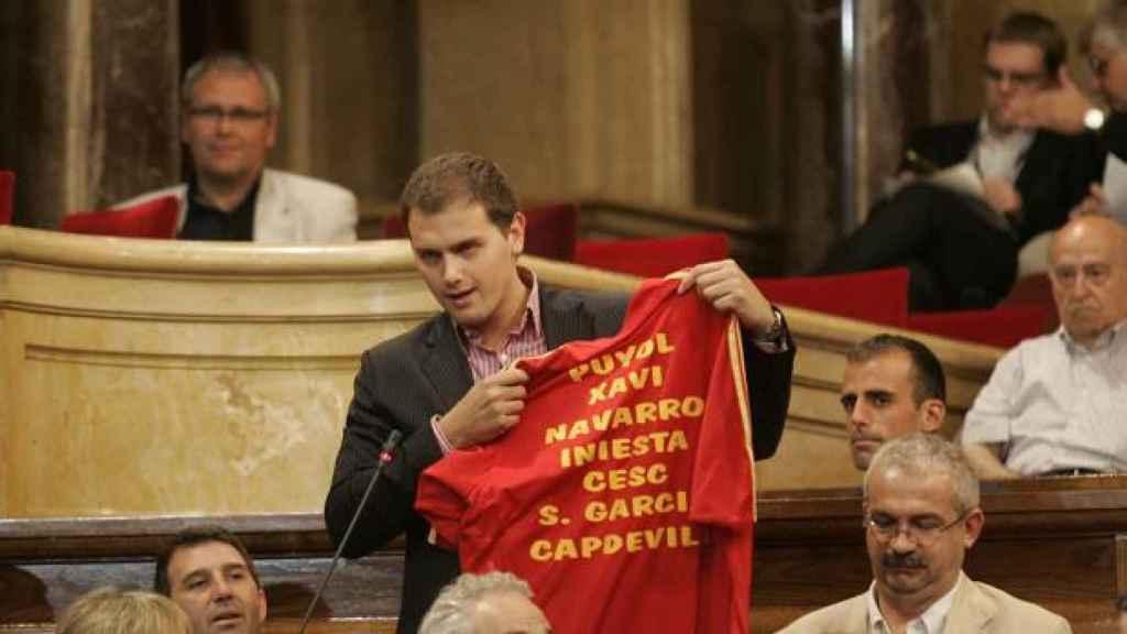Albert Rivera, durante su primera legislatura en el parlamento regional catalán.