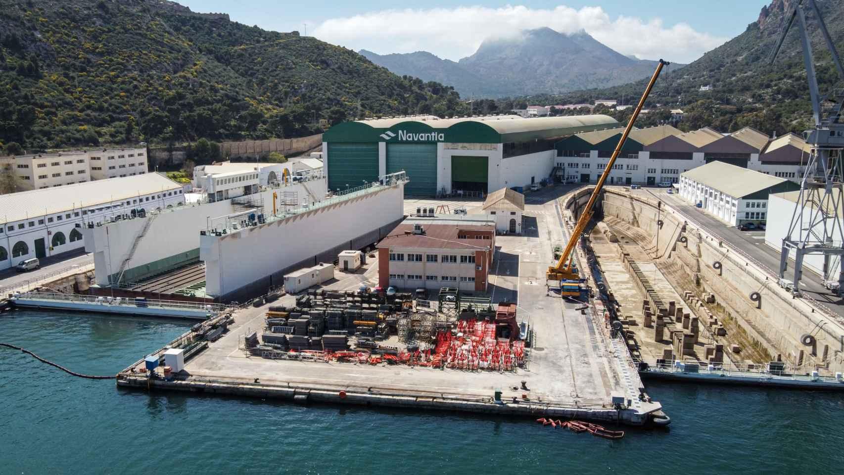 Las instalaciones de Navantia Cartagena.